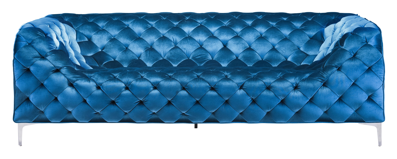 ... Providence Sofa Blue Velvet Zuo