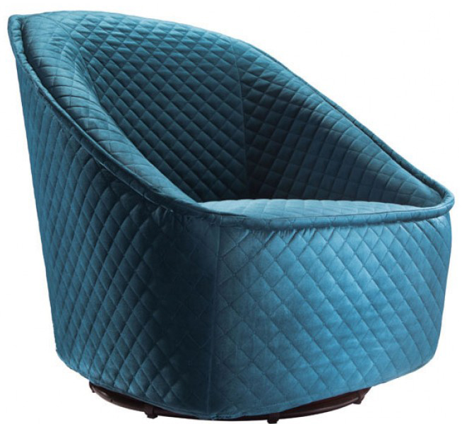 aquamarine pug swivel chair