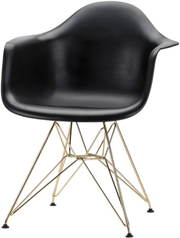 the ray dining chair in black gold