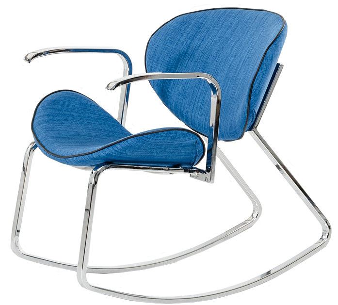 Check out the Valerio Blue Fabric Rocker Armchair available at AdvancedInteriorDesigns