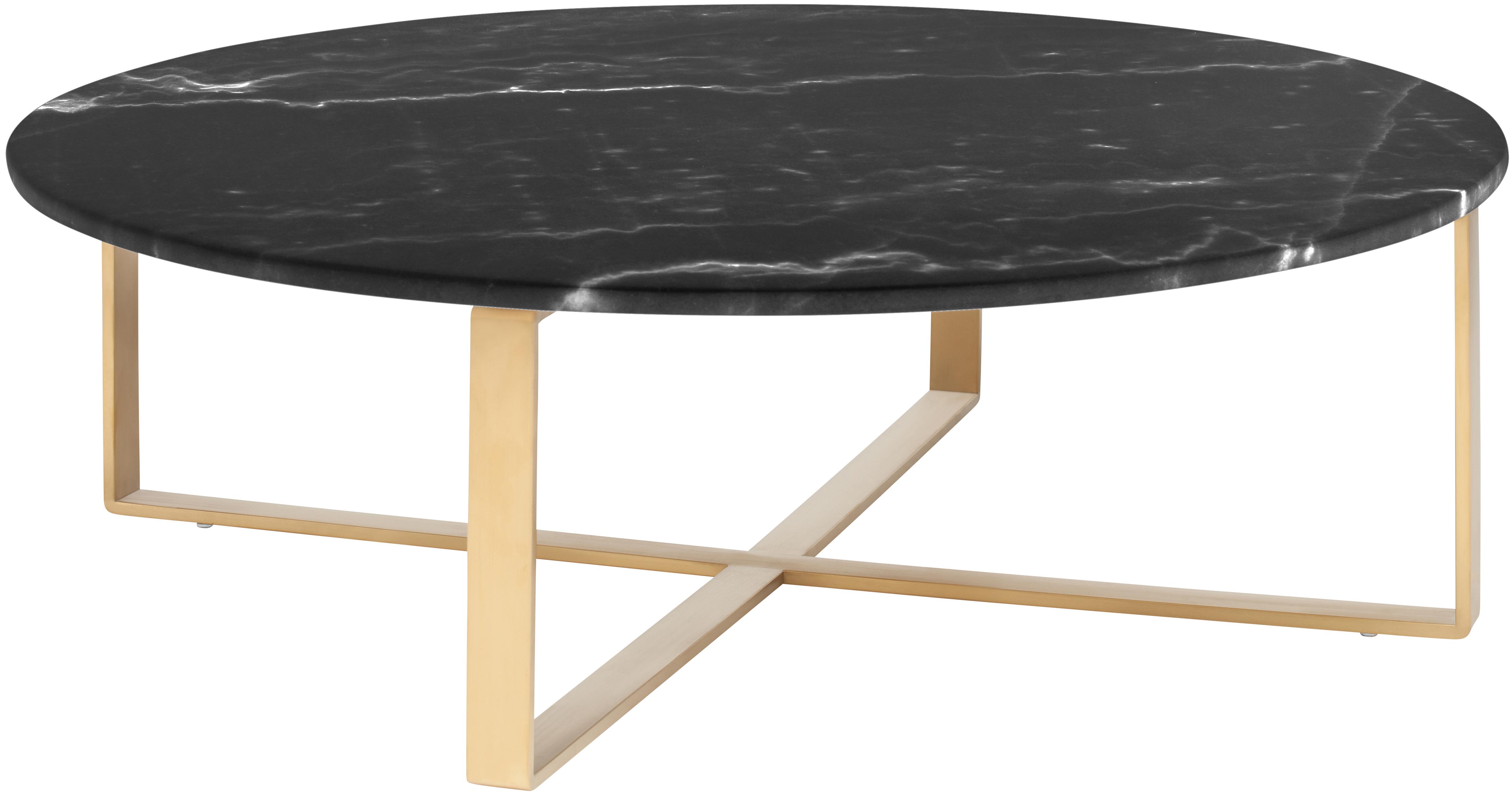 Rosa Coffee Table Black Marble Modern Coffee Table