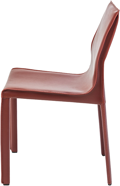 the side view of the bordeaux colter dining chair