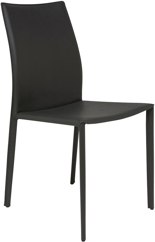 the nuevo sienna dining chair in dark grey