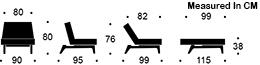 measurement splitback eik chair
