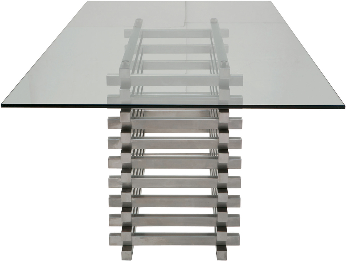 stacked dining table by nuevo living