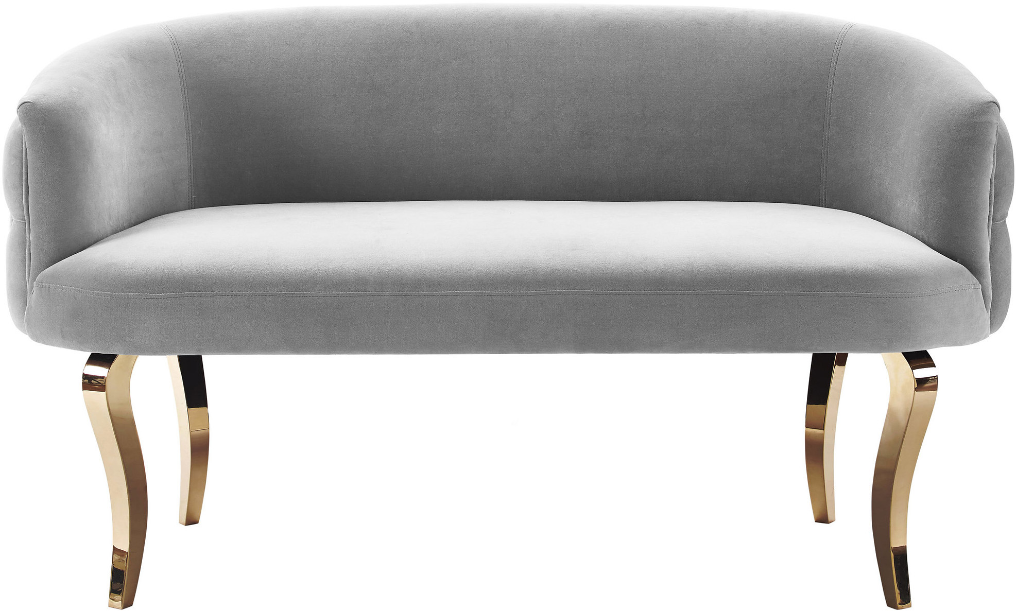 the taylor velvet grey loveseat