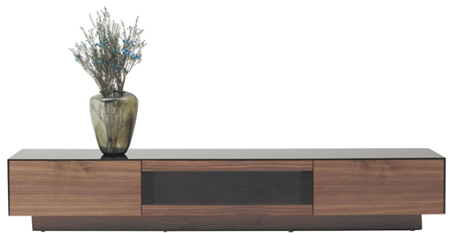 low priced tv stand walnut finish