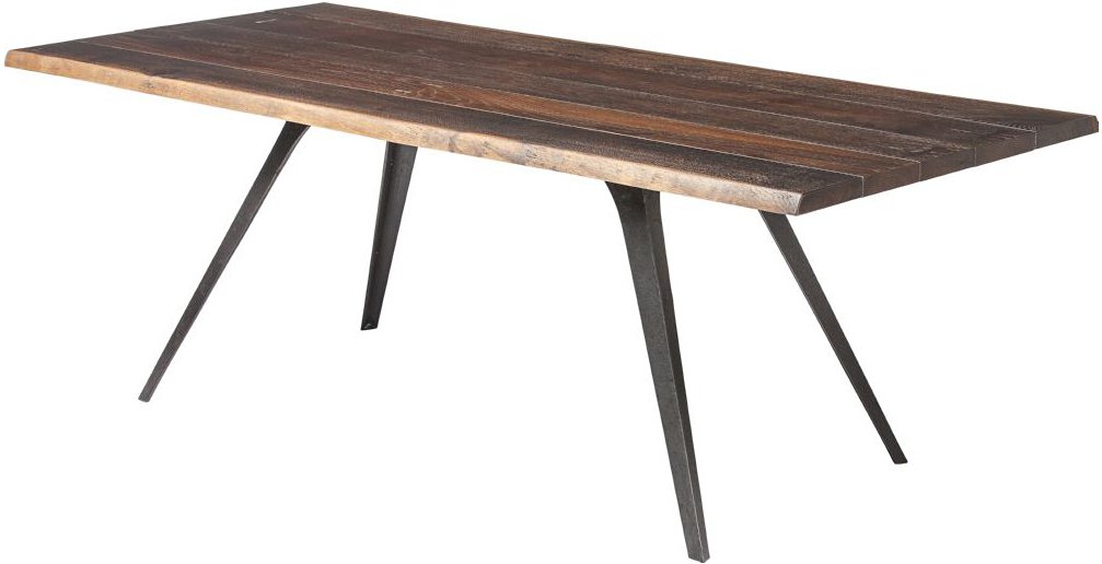 the vega dining table in seared oak
