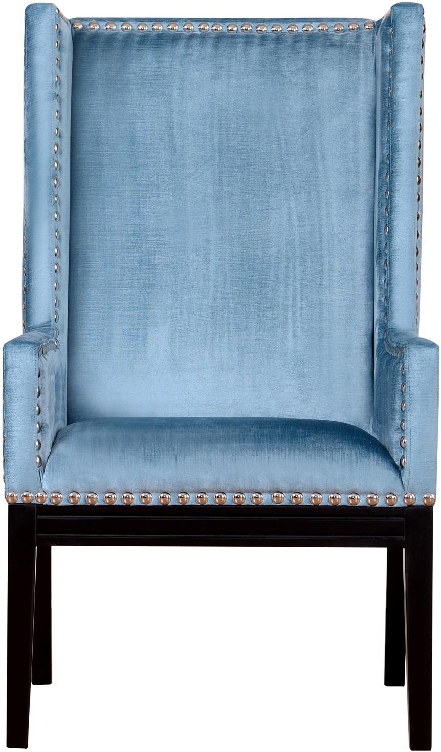 the velvet orianna arm chair in blue