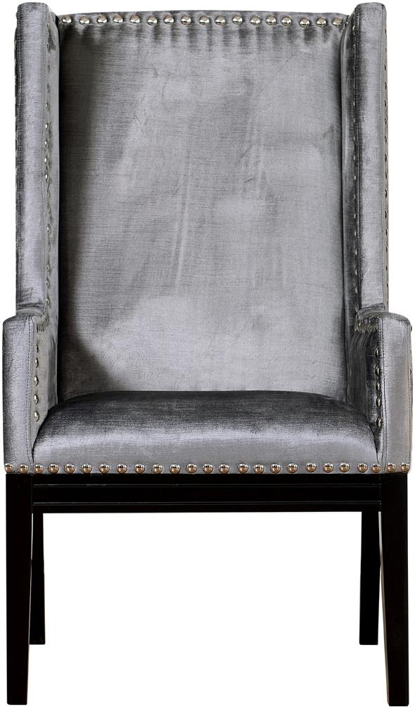 the velvet orianna arm chair in grey