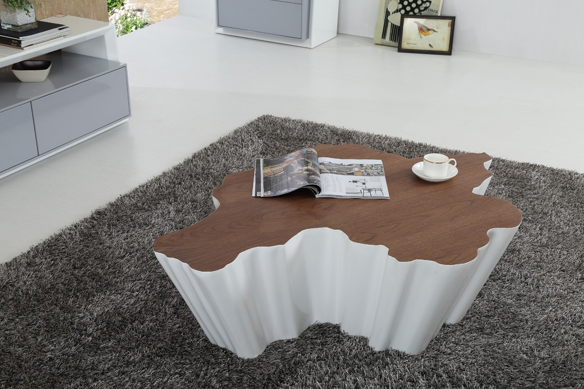 wayne walnut u0026 white coffee table white and walnut coffee table