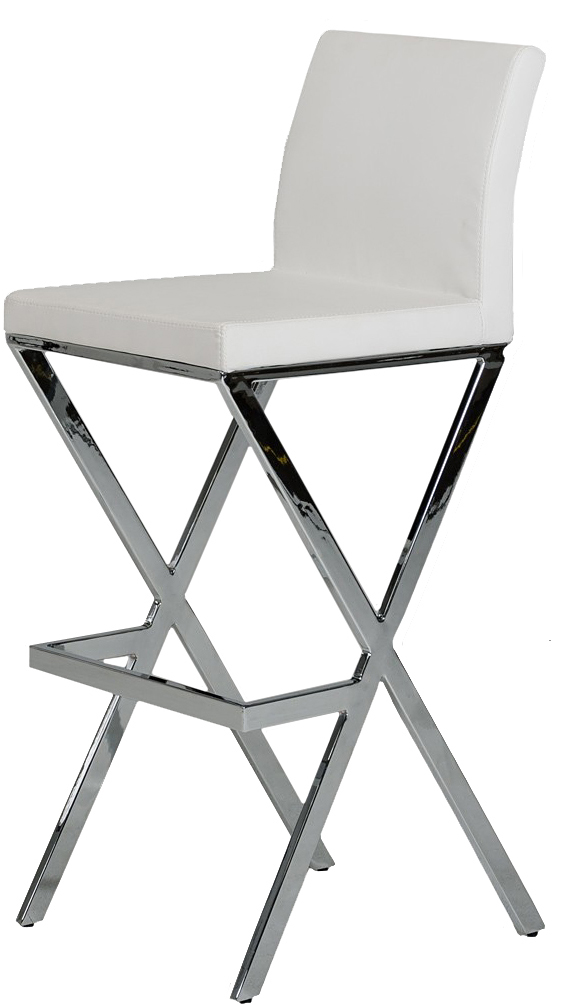 find a low priced white faux leather bar stool today at AdvancedInteriorDesigns.com