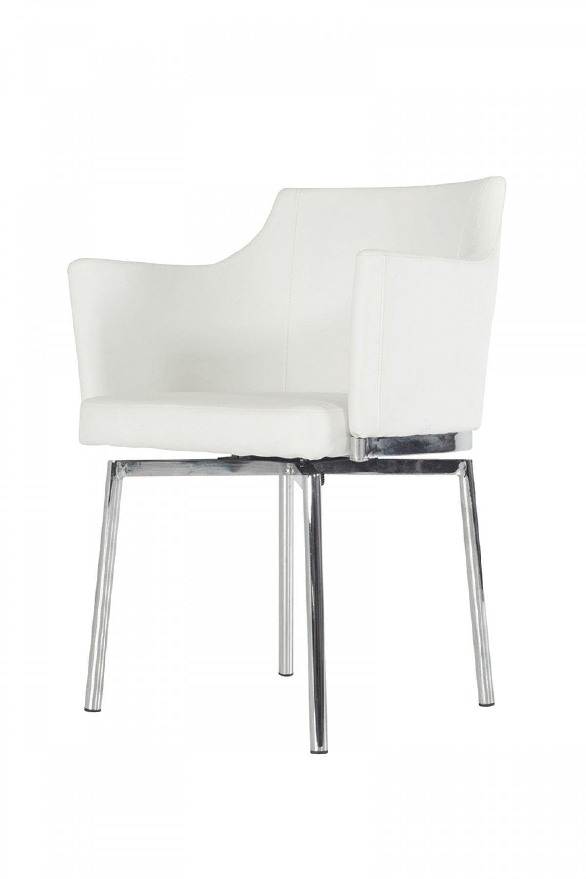 Check out the brand new Cynthia White Swivel Dining Chair at AdvancedInteriorDesigns.com