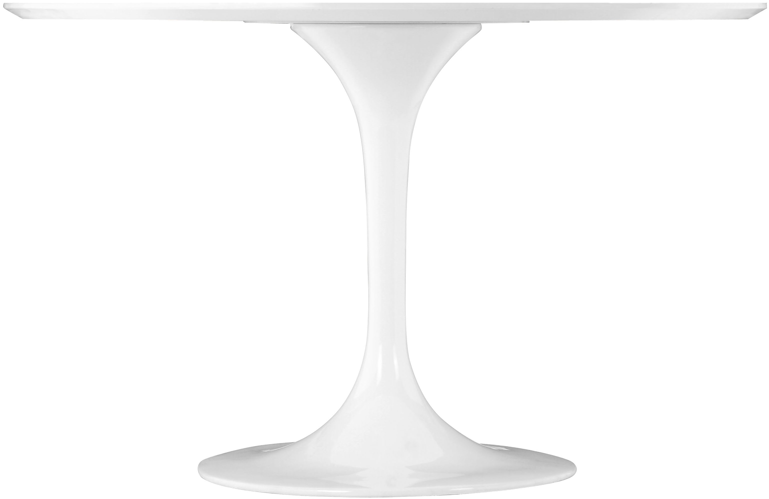 the zuo modern wilco dining table white, a mid century inspired piece.