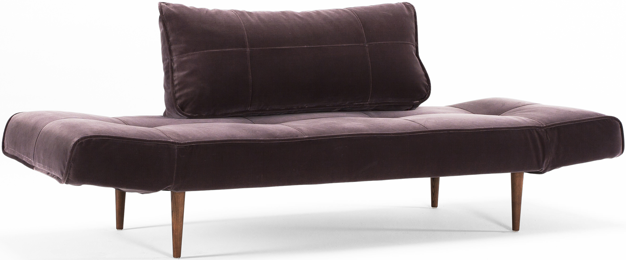 innovation zeal sofa dark styletto mauve