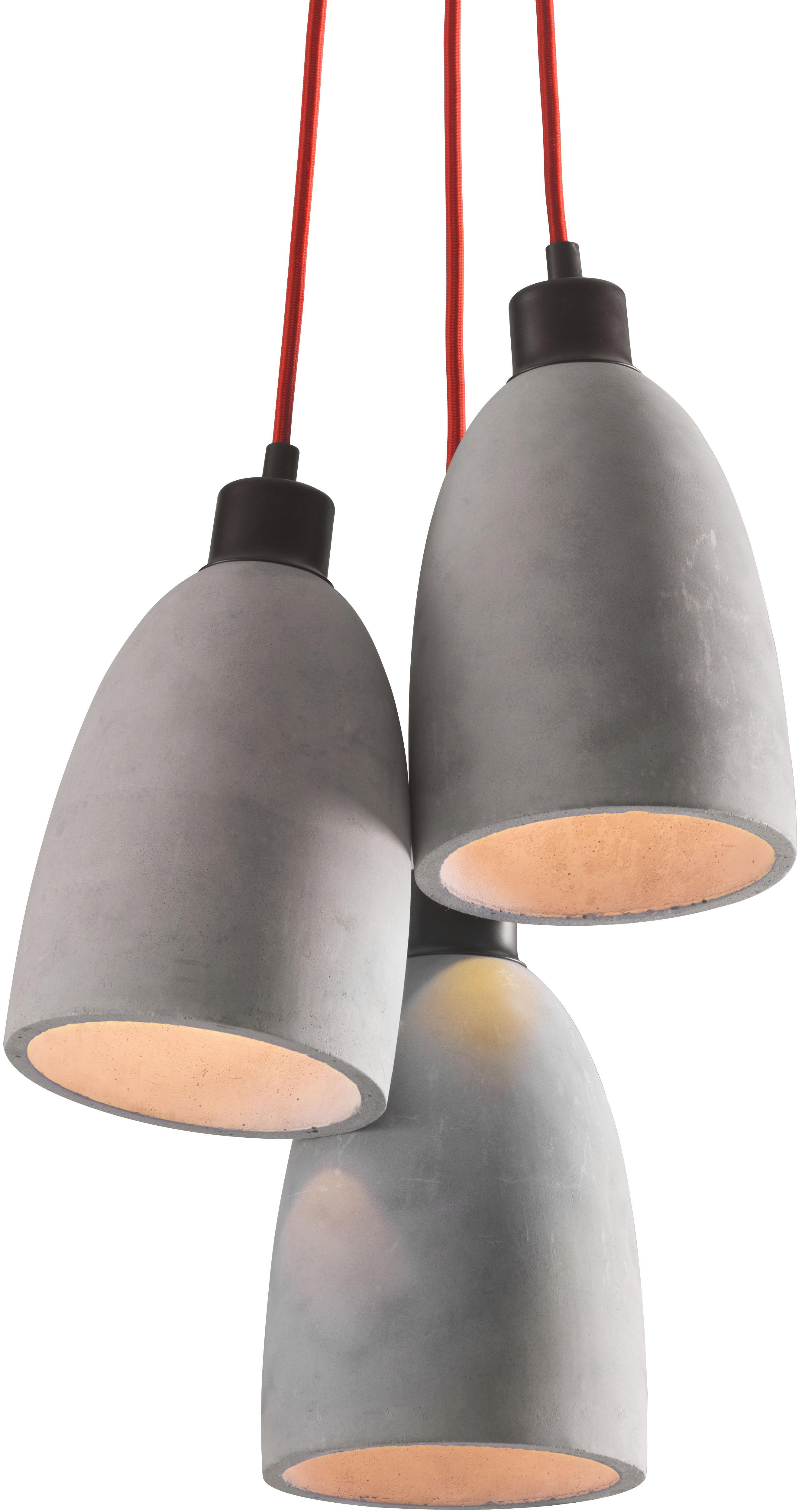 fancy ceiling lamp concrete gray