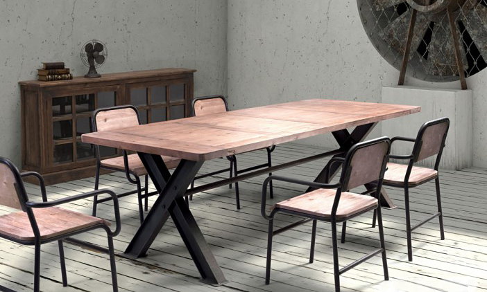 This new dining table seats up to 9 and comes in a distressed natural dining.