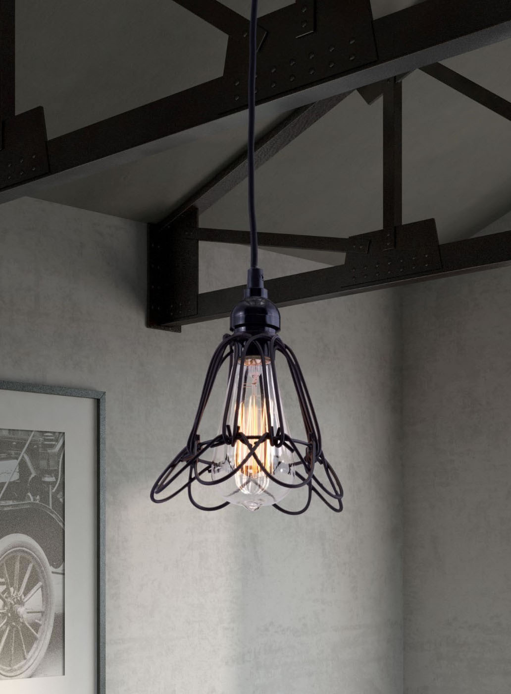 lifestyle shot of the hasting ceiling lamp