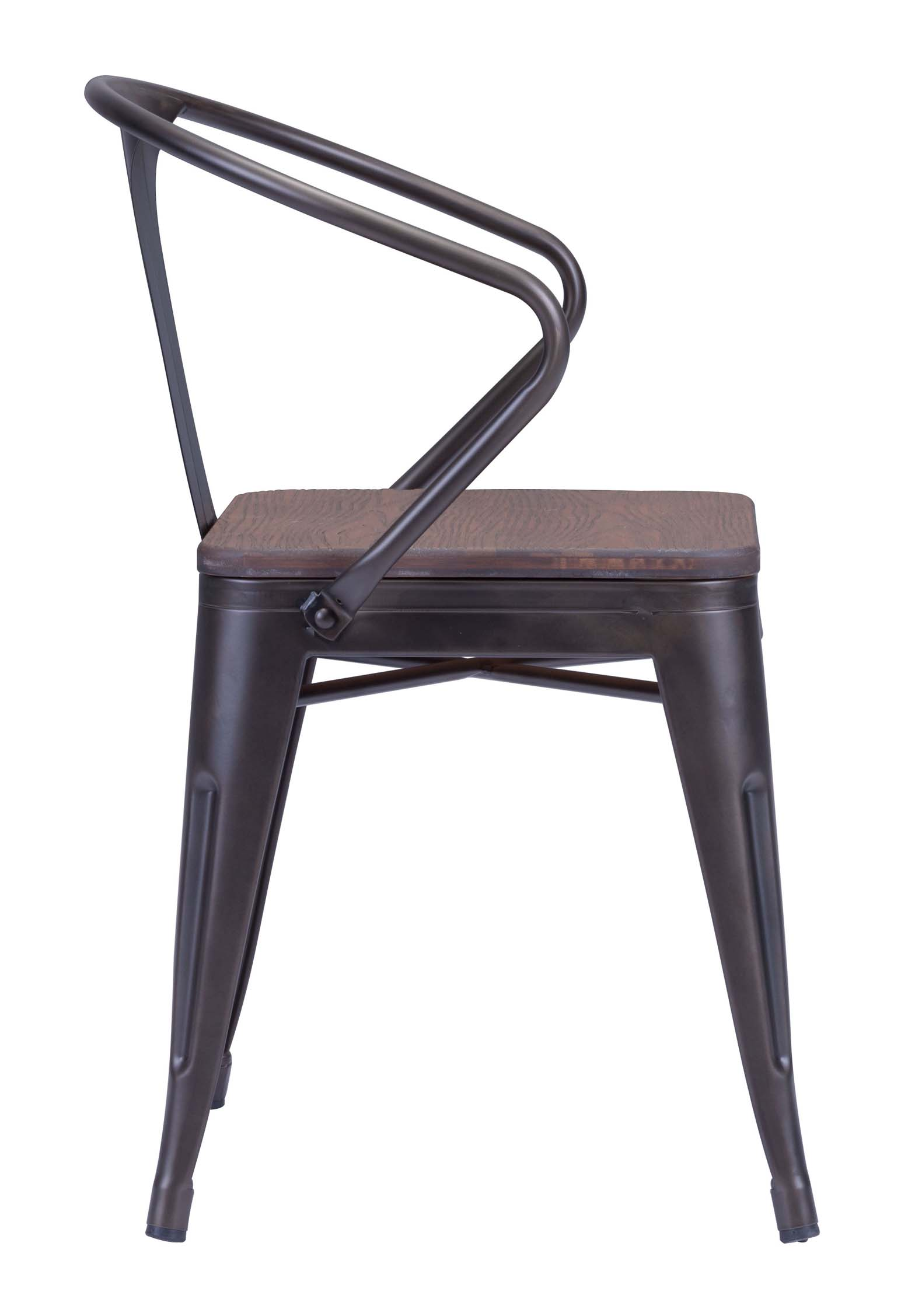... Zuo Helix Dining Chair Rustic Wood ...
