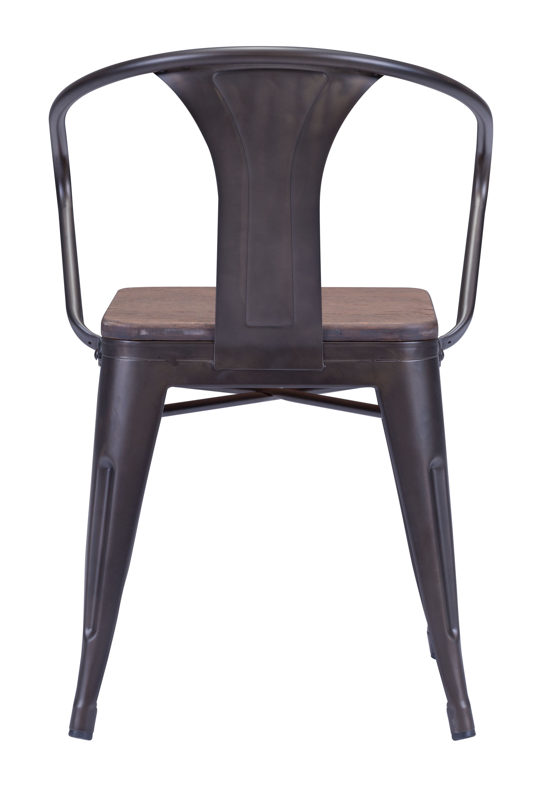 ZUO HELIX DINING CHAIR WITH WOOD SEAT