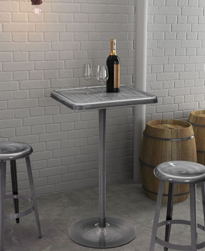 gunmetal mallus bar table