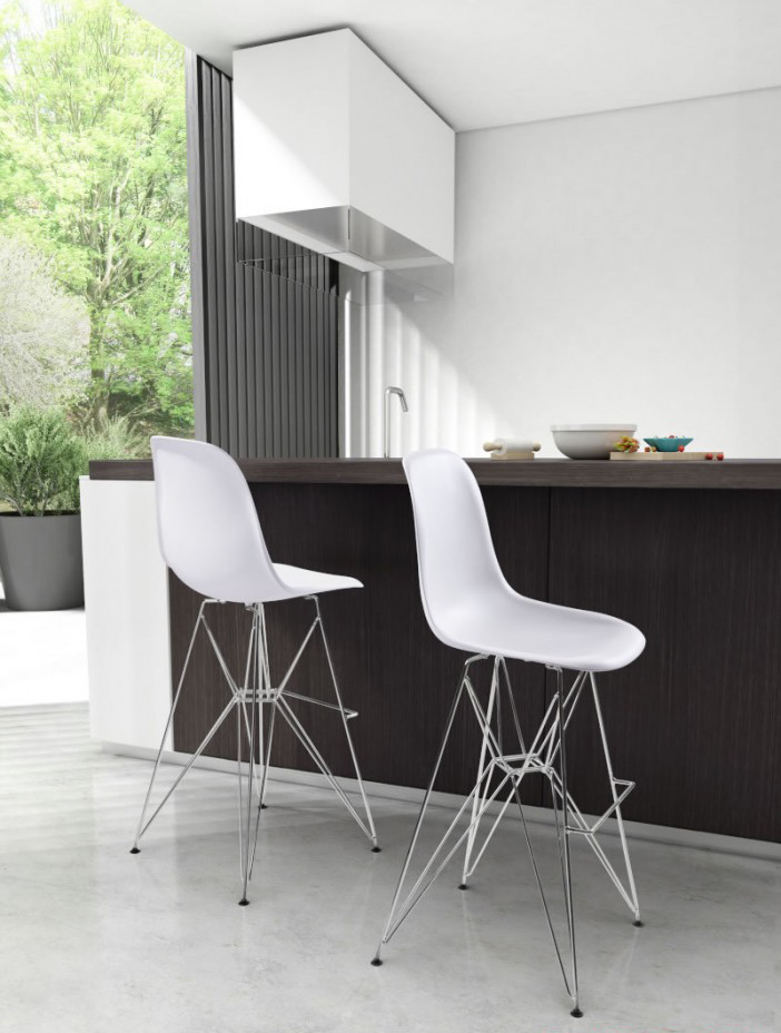 low priced zuo modern 100323 - zip bar chair white