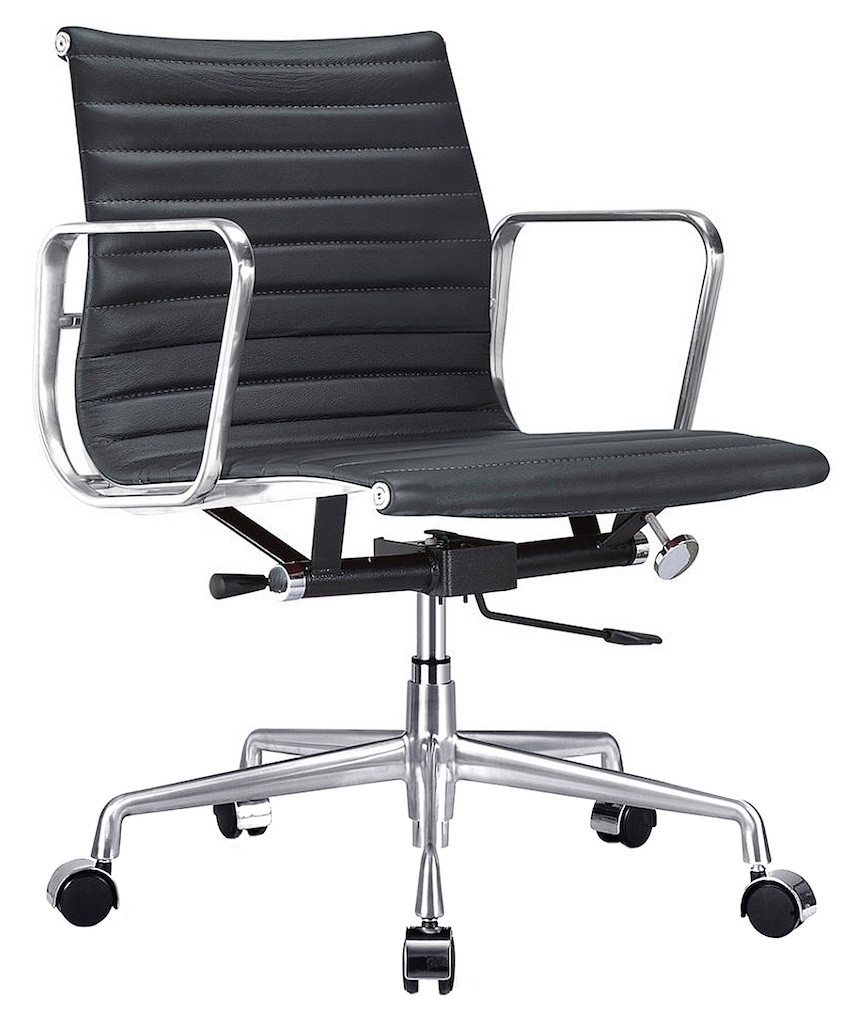 Aluminum Management Chair Ribbed Back Home And Office Furniture