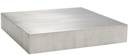 Nuevo Siren Coffee Table Brushed Stainless Steel