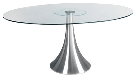 Oval Glass Dining Table satellite oval glass dining table