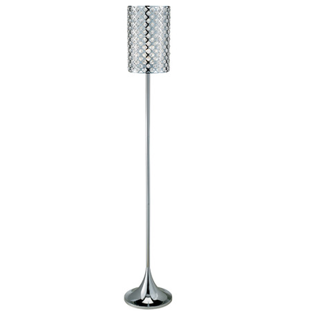 Floor lamp w cylinder shade for Paper cylinder floor lamp