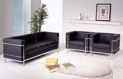 corbusier 3pc sofa set