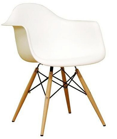 ... Molded Plastic Armchair With Dowel Leg Base. Image 1
