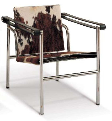 le corbusier lc1 sling chair in pony hide. Black Bedroom Furniture Sets. Home Design Ideas