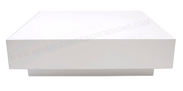 dumas coffee table - white lacquer