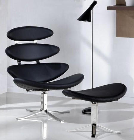 Corona chair and ottoman for Chaise jacobsen