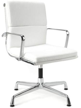 Merveilleux ... Director Office Chair With No Wheels   White. Image 1