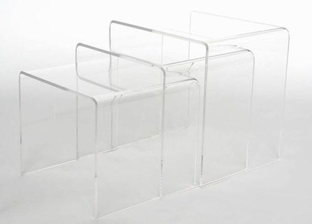 Carolina clear acrylic nesting tables - Table gigogne plexi ...