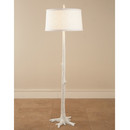 White Faux Bois Floor Lamp