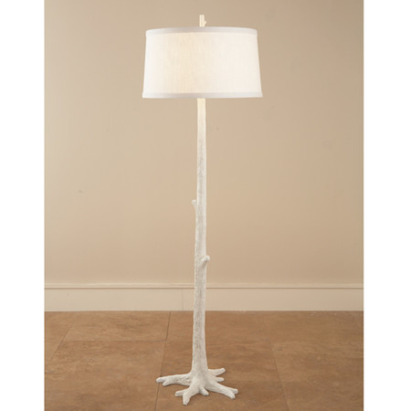 home lighting floor lamps white faux bois floor lamp. Black Bedroom Furniture Sets. Home Design Ideas