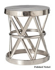 Costello Iron Side Table - Polished Nickel