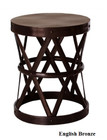 Costello Iron Side Table - English Bronze