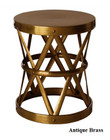 Costello Iron Side Table - Antique Brass