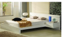 Matrix Platform Bed - White Lacquer