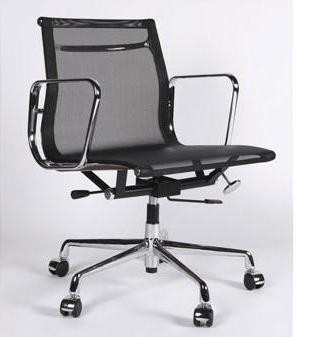 ... Aluminum Management Chair   Black Mesh. Image 1