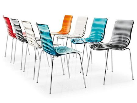 L 39 eau chair by calligaris - Chaise design transparente pas cher ...