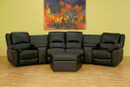Brando Home Theater 4 Seats Curved Row - Black