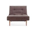 Splitback Chair With Wooden Legs - Begum Brown