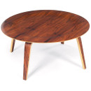 Molded plywood coffee table - Rosewood