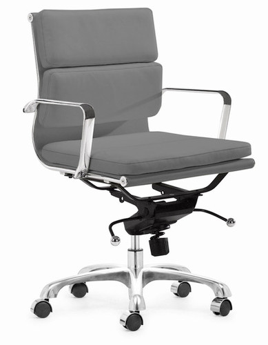 Home Office Chairs Executive Soft Pad Office Chair Grey