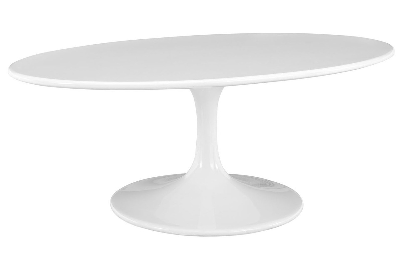 Tulip Oval Coffee Table White